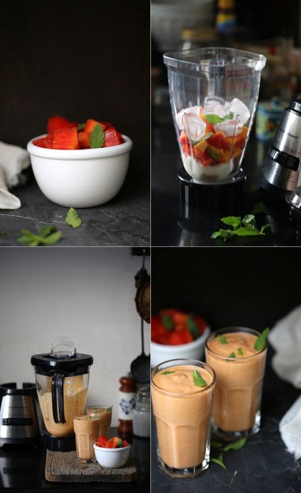 Papaya Yogurt Smoothie