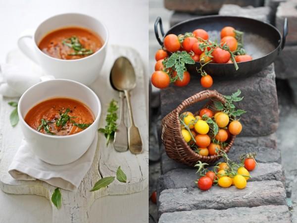Char-grille Tomato Gazpacho