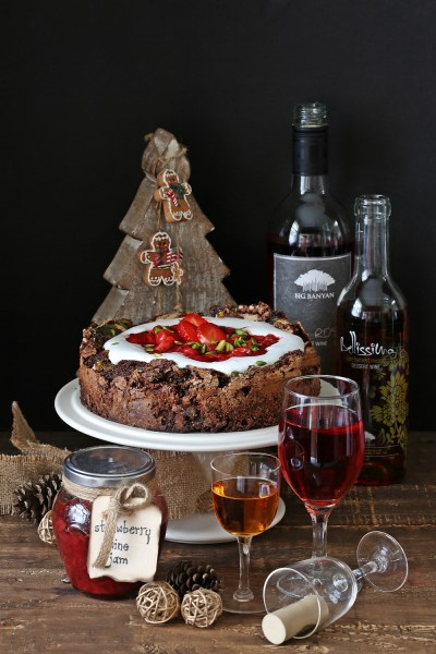 Baking| Chocolate Berry Wine Gateau … a delicious, indulgent GF cake this Christmas