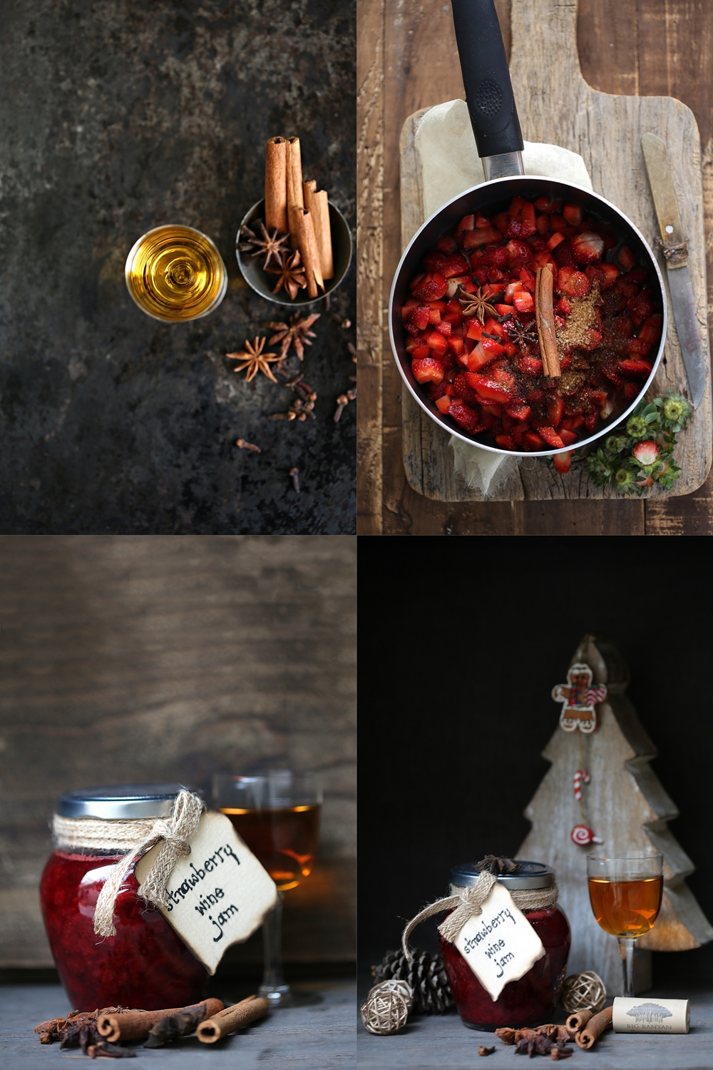 Spiced Strawberry Wine Jam