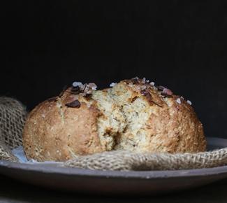Wholewheat-Garlic-Oat-Soda-Bread-325 Baking | Wholewheat Garlic Oat Soda Bread ... Instagram inspired baking #makehalfyourgrainswhole