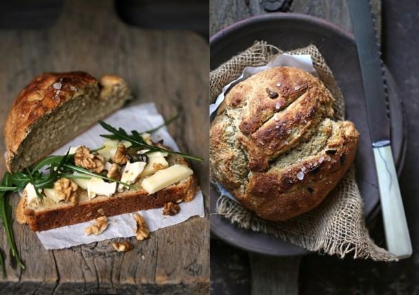 Wholewheat-Garlic-Oat-Soda-Bread-6-840x592 Baking | Wholewheat Garlic Oat Soda Bread ... Instagram inspired baking #makehalfyourgrainswhole