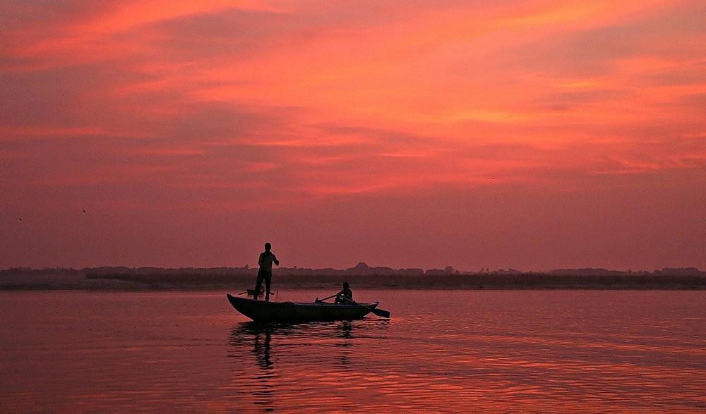 Sunrise over the Ganga, Banaras