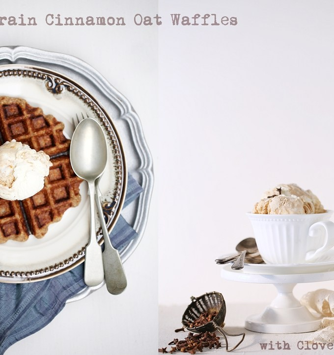 FoodTalk | Wholegrain Cinnamon Oat Waffles with Clove Ice Cream… get spicy these monsoons!  #ICloveIt
