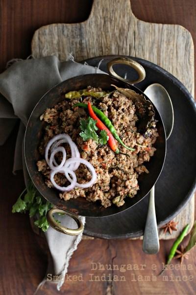 Cooking | Dhungaar-e-Keema or Smoked Lamb Mince #comfortfood #Indiancuisine