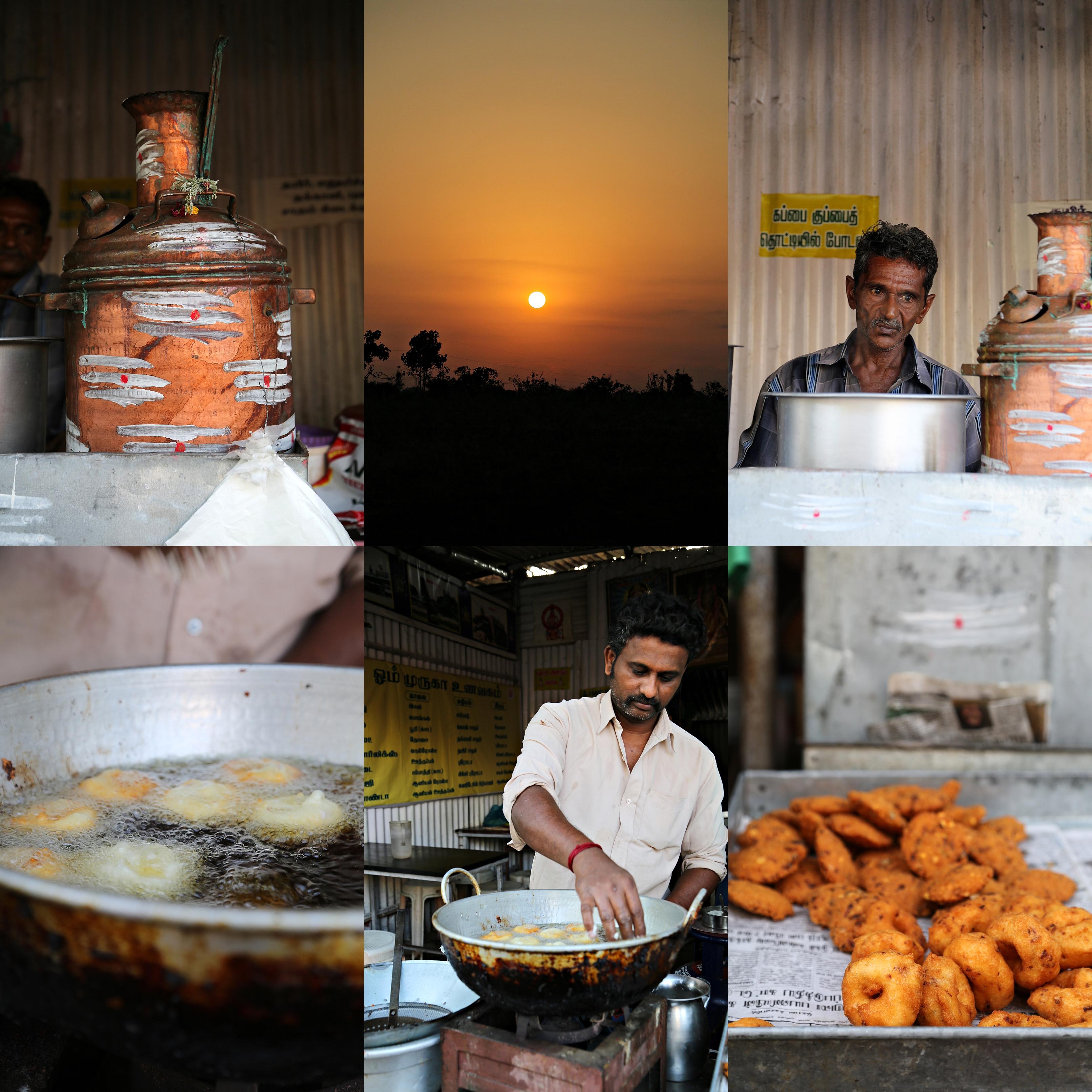 Street Breakfast, Chettinad, South India