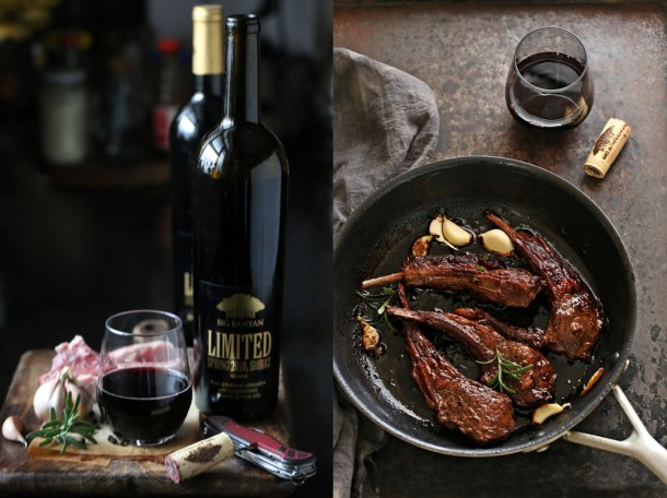 Red-Wine-Lamb-Chops-6-1000 Baking | Dark Chocolate Cheesecake with Wine Macerated Strawberries