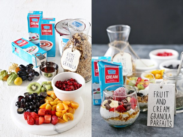 Fruits-with-Cream-Granola-Parfaits-8-1000 Baking | Fruits with Cream & Granola Parfaits ... dessert for breakfast with cream, fruit & homemade granola