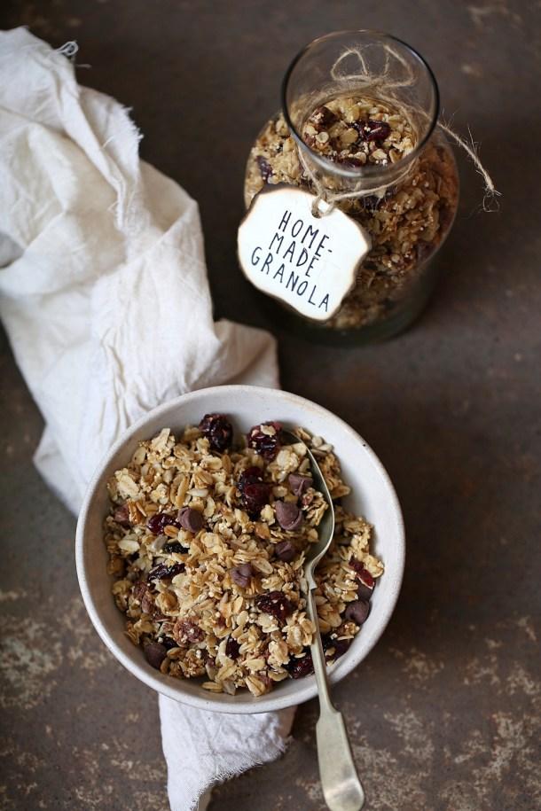 Homemade-GF-Granola Baking | Date Walnut Orange Flapjacks ... sweet comfort food