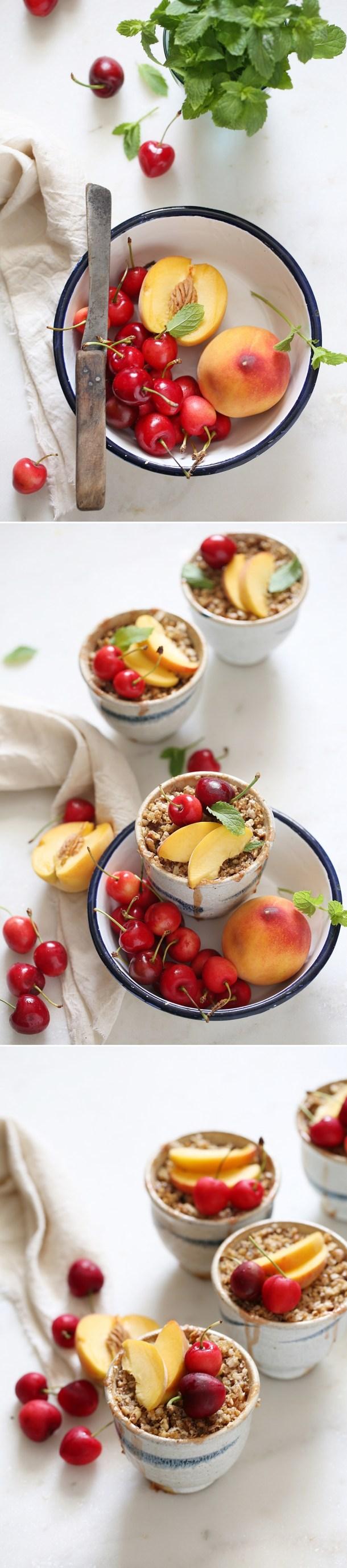 Peach-Cherry-Quinoa-Crumbles-2 GF Peach Cherry Quinoa Crumbles ... that's how my quinoa crumbled #wholefoods #baking #quinoa