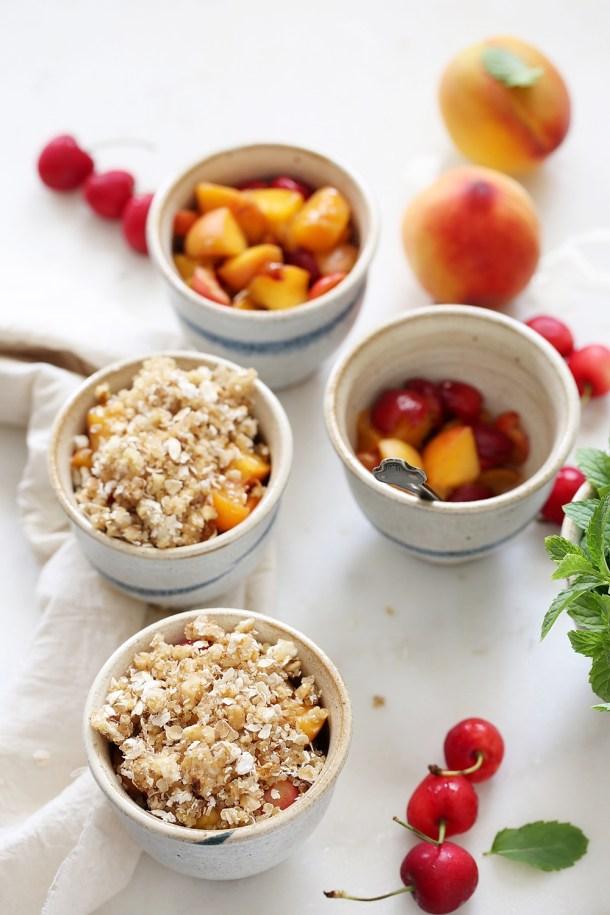 Peach-Cherry-Quinoa-Crumbles-4 GF Peach Cherry Quinoa Crumbles ... that's how my quinoa crumbled #wholefoods #baking #quinoa