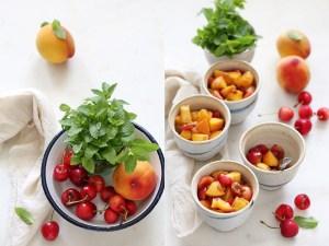 Peach Cherry Quinoa Crumbles