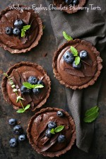 Wholegrain-Eggless-Chocolate-Blueberry-Tart-2 Wholegrain Eggless Chocolate Blueberry Tarts ... sometimes chocolate IS the answer!