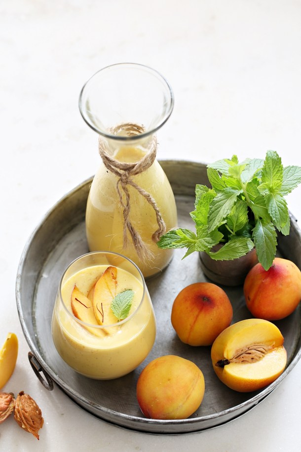 Peach-Smoothie-1000 Cold Cucumber Garlic Soup... 10 things you can make in your Kitchen Aid Blender