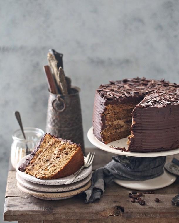 Coffee-Mascarpone-Layered-Cake-with-Dark-Chocolate-Ganache-4 Coffee Mascarpone Layered Cake with Dark Chocolate Ganache