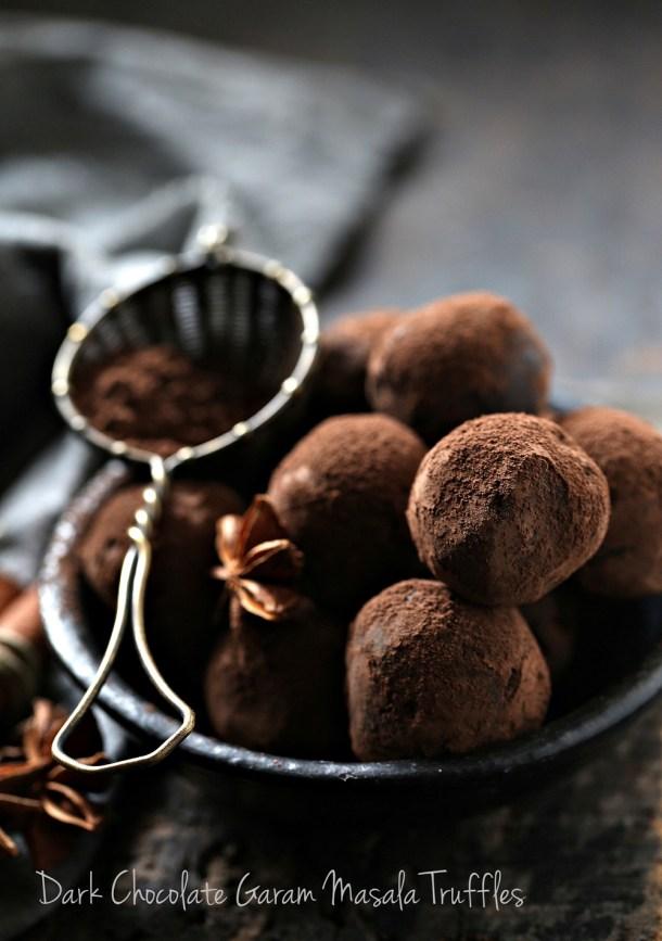 Dark-Chocolate-Garam-Masala-Truffles-1000 Dark Chocolate Garam Masala Truffles ... the simplest, most delicious way to use leftover fruit mince