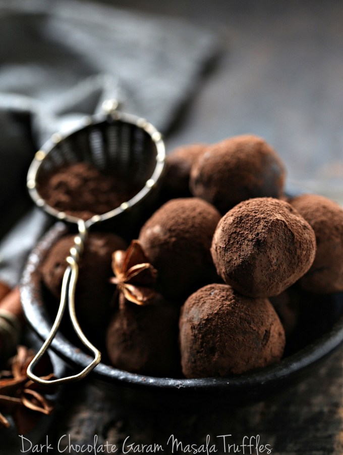 Dark Chocolate Garam Masala Truffles … the simplest, most delicious way to use leftover fruit mince