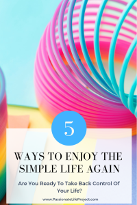 So often we put everyone else's needs ahead of ours, to the detriment of our own physical and emotional well-being.So how can we enjoy the simple things in life again?