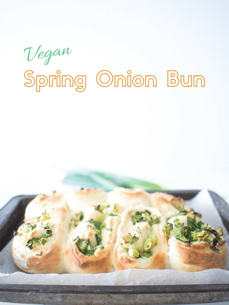 vegan spring onion bun