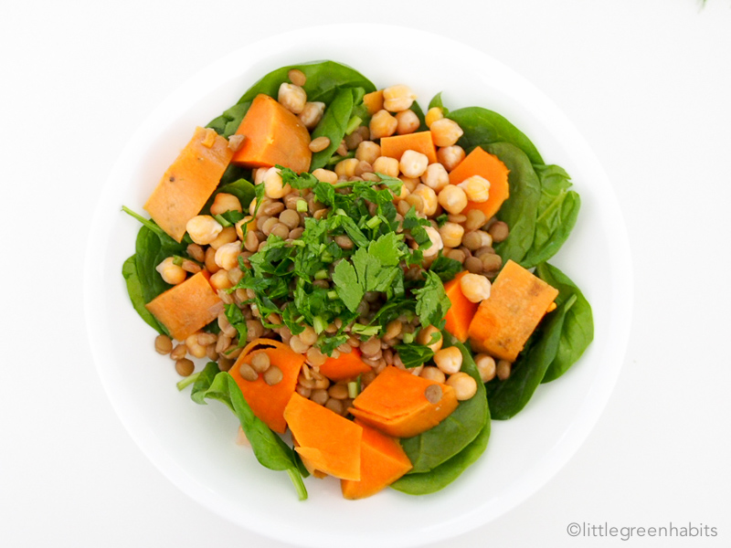 Sweet potato spinach salad-002