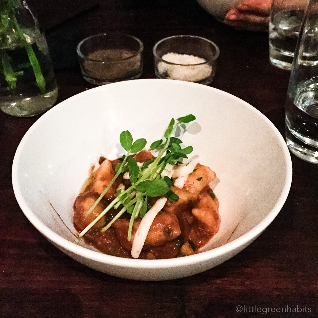 Dandylion - Gnocchi with tomato based walnut sauce