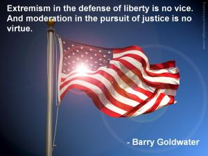 Barry Goldwater's quote on the defense of liberty.