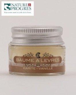 Baume à lèvres Bio Karité Vanille