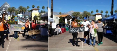 Passion Barre tribe walk at Terra Vista Farmers Market