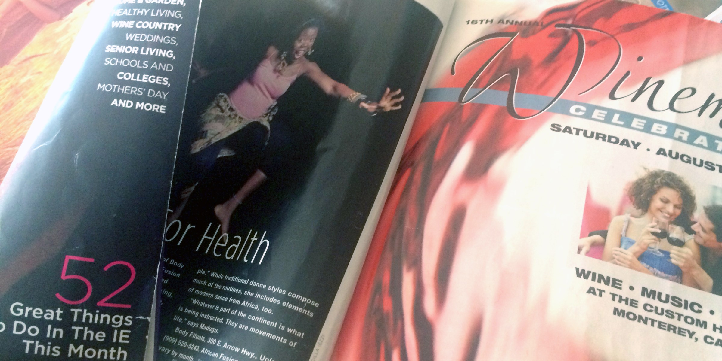 Passion Barre's 'Dami featured in Inland Empire Magazine, 2008