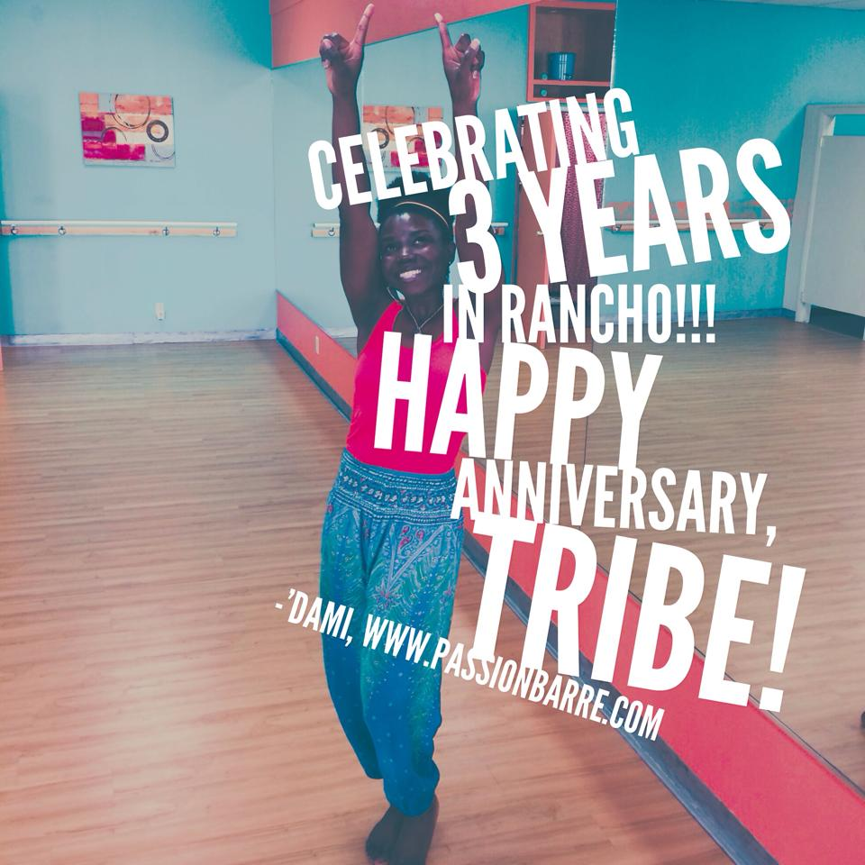 passion barre 3 years in rancho cucamonga
