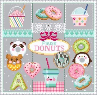 Pause donuts - Passion Bonheur - point de croix - point compté - fiche point de croix - fiche point compté - fiches de point de croix - fiches de point compté - grille point de croix - grille point compté - grilles point de croix - grilles point compté - diagramme point de croix - diagramme point compté - diagrammes point de croix - diagrammes point compté - broderie point de croix - broderie point compté - broderies point de croix - broderies point compté - création fiche point de croix - création fiche point compté - création grille point de croix - création grille point compté - créatrice fiche point de croix - créatrice fiche point compté - cross stitch - cross stitch pattern - cross stitch design - cross stitch chart - needle work - embroidery - embroideries