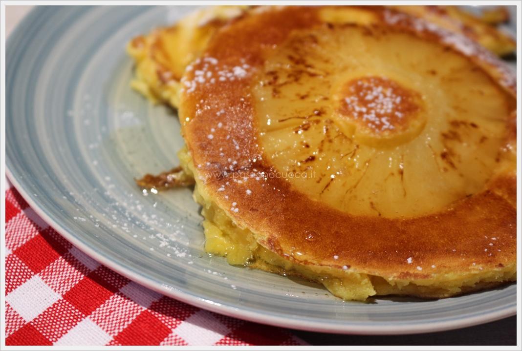Pancakes con ananas
