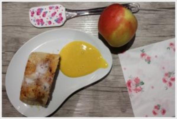 ricetta strudel di mele e zabaione al passito