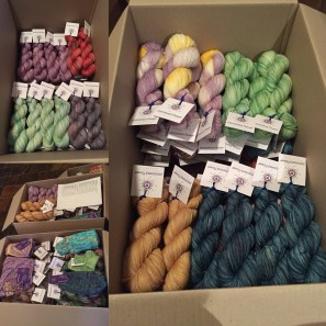 Boxes of yarn
