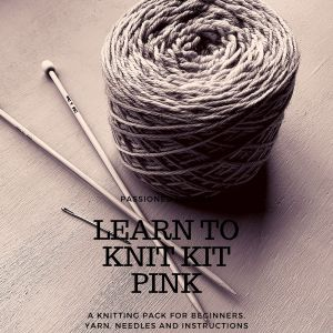 Pink Learn to knit kit