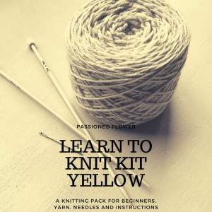 Yellow Learn to Knit Kit