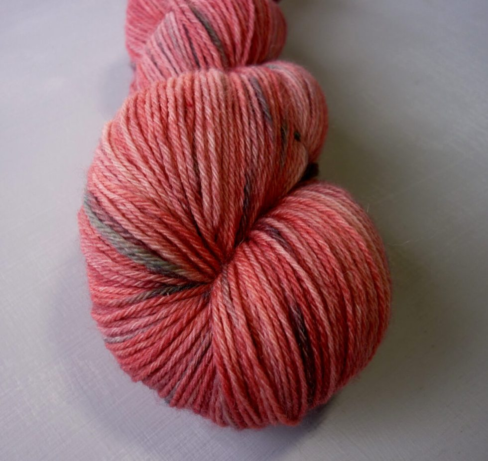 close up of Flowering Gum sock yarn
