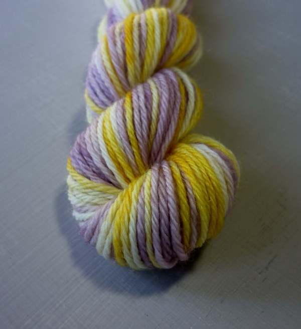 Pansy mini skein closeup