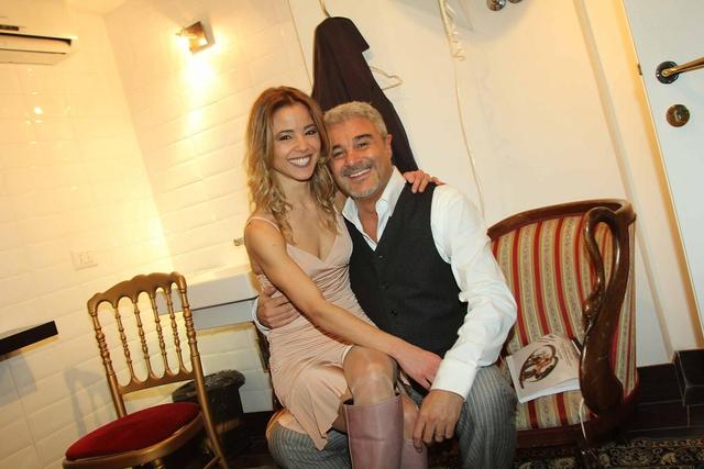 Pino Insegno e moglie