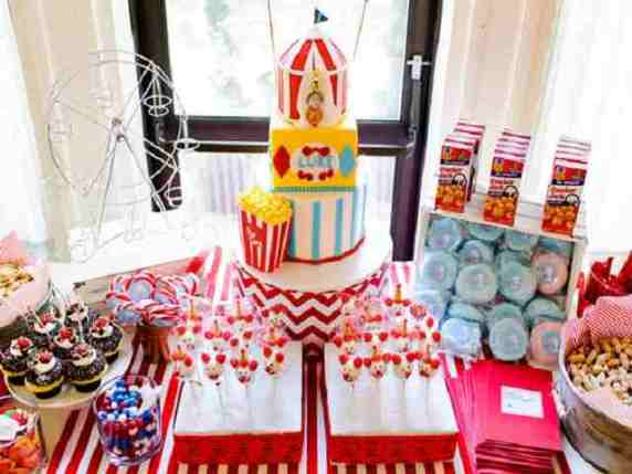 festa circo per primo compleanno