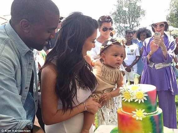 torta primo compleanno figlia kim kardashian