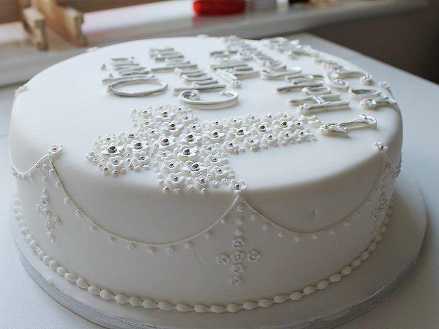 torta bianca prima comunione maschietto