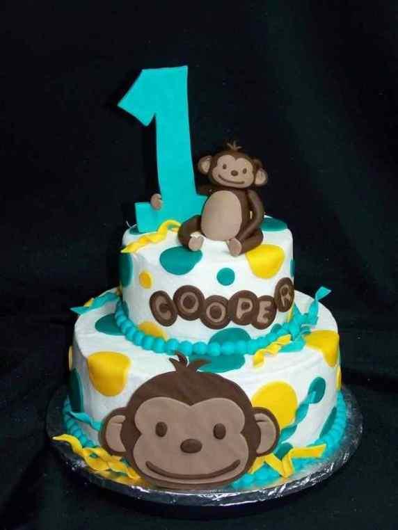 scimmia su torta