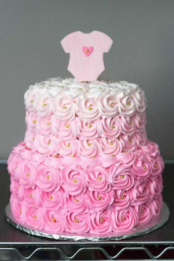 baby shower torta con fiori
