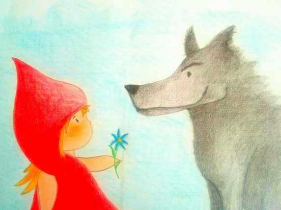 foto cappuccetto rosso e il lupo