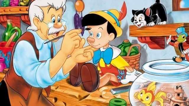 foto Pinocchio con Geppetto