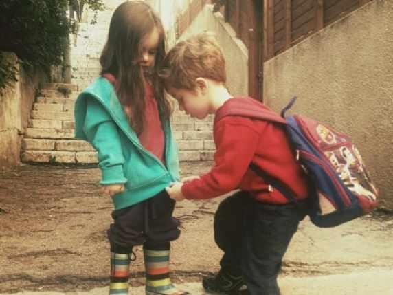 foto bambino e bambina