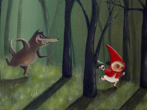 foto fiaba cappuccetto rosso e il lupo cattivo