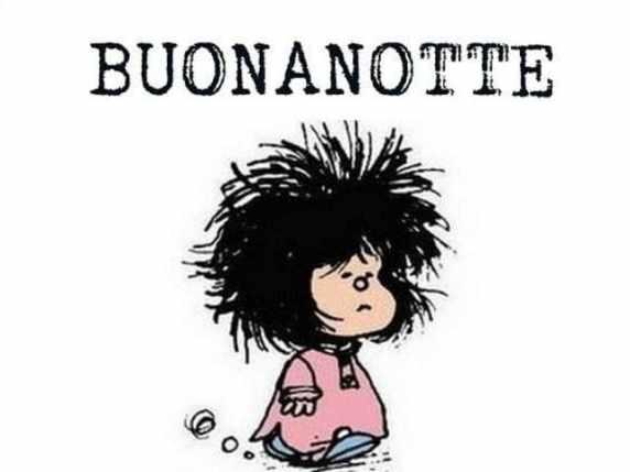foto immagini spiritose buonanotte Mafalda