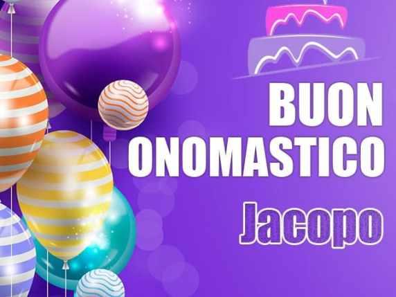 Foto Buon onomastico nome Jacopo